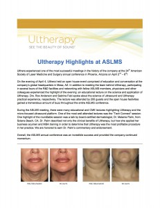 Ultherapy highlights at ASLMS