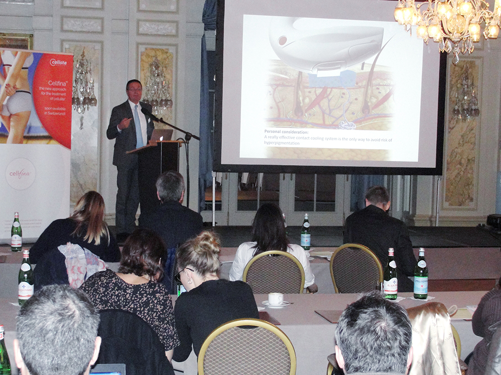 Dr. Matteo Tretti is presenting the advantages of Lumenis Aesthetic devices (M22 & ResurFX)